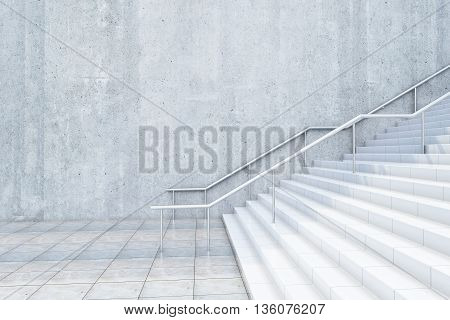 Concrete Stairway Side
