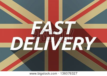 Long Shadow Uk Flag With    The Text Fast Delivery
