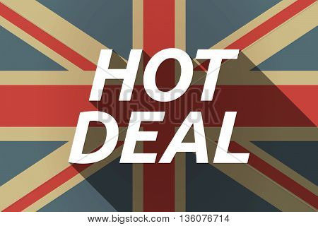 Long Shadow Uk Flag With    The Text Hot Deal