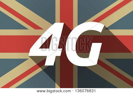 Long Shadow Uk Flag With    The Text 4G