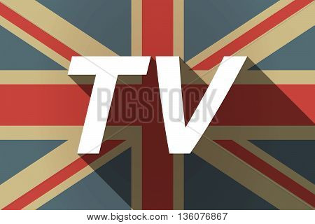 Long Shadow Uk Flag With    The Text Tv