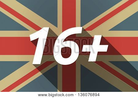 Long Shadow Uk Flag With    The Text 16+