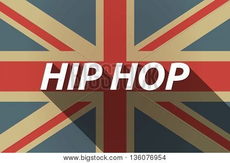 Long Shadow Uk Flag With    The Text Hip Hop