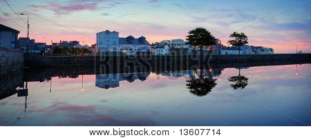 Mornig Panorama Of Galway, Claddagh