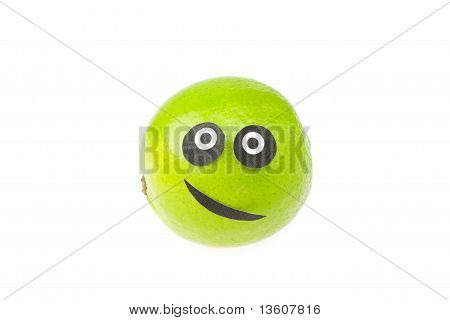 Joke Lime Face Isolated On White