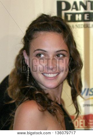 Josie Maran at the Celebrity Gala Opening For National Tour Of Movin' Out held at the Pantages Theatre, in Hollywood, USA on September 17, 2004.