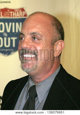 Billy Joel at the Celebrity Gala Opening For National Tour Of Movin' Out held at the Pantages Theatre, in Hollywood, USA on September 17, 2004.