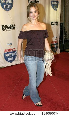 Minka Kelly at the Celebrity Gala Opening For National Tour Of Movin' Out held at the Pantages Theatre in Hollywood, USA on September 17, 2004.