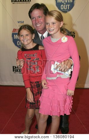 Scott Nederlander and his daughters Taylor and Sarah at the Celebrity Gala Opening For National Tour Of Movin' Out held at the Pantages Theatre in Hollywood, USA on September 17, 2004.