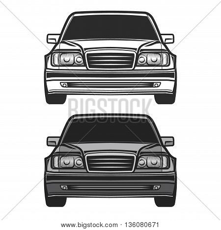 Retro car set Vintage car vectors illustration
