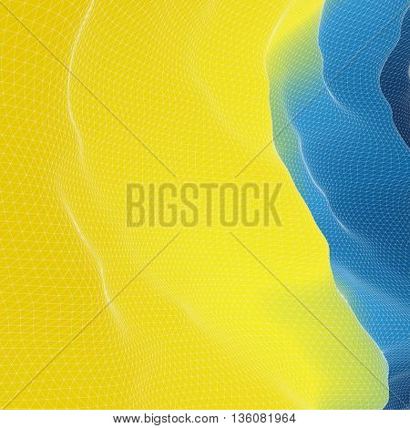 Colorful Mosaic Backdrop. Abstract Geometric Pattern. Vector Illustration.