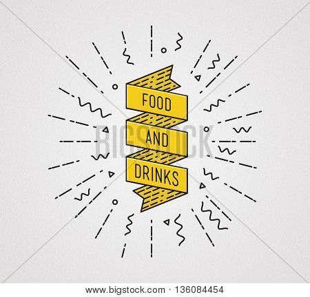 Food And Drinks. Inspirational Illustration, Motivational Quote