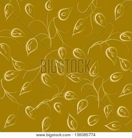 Wall-paper with curling leaves of a plant
