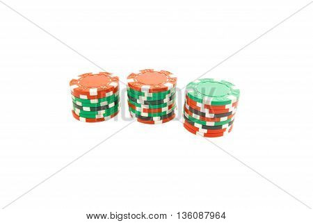 Stacks Of Colored Chips