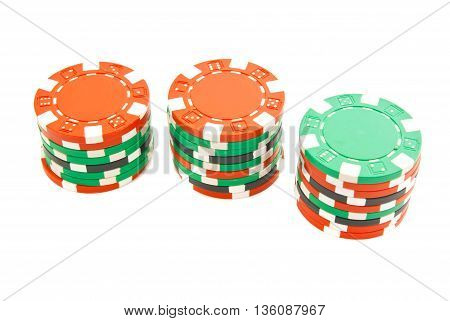 Stacks Of Colorful Chips