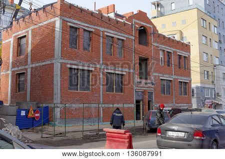 Nizhny Novgorod Russia. - March 25.2016. House under construction on Malaya Pokrovskaya