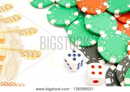 Dices, Rubles And Plastic Chips