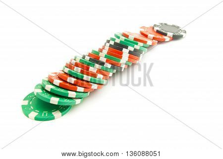 Colored Plastic Chips