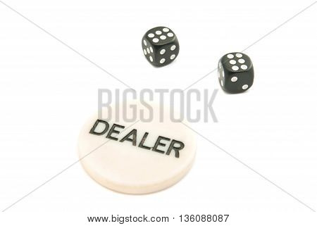 Pair Of Dices And Chips
