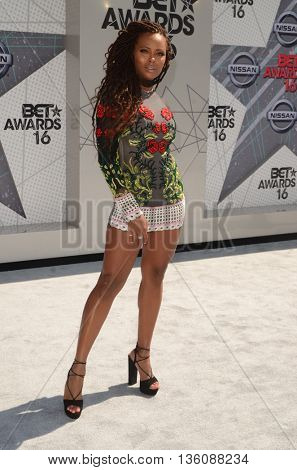 LOS ANGELES - JUN 26:  Eva Marcille at the BET Awards Arrivals at the Microsoft Theater on June 26, 2016 in Los Angeles, CA