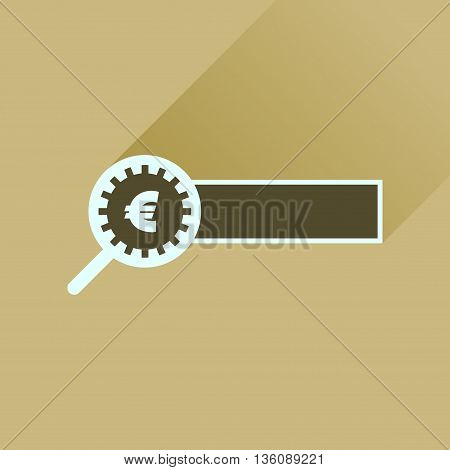 Flat icon with long  shadow find money
