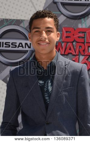 LOS ANGELES - JUN 26:  Marcus Scribner at the BET Awards Arrivals at the Microsoft Theater on June 26, 2016 in Los Angeles, CA