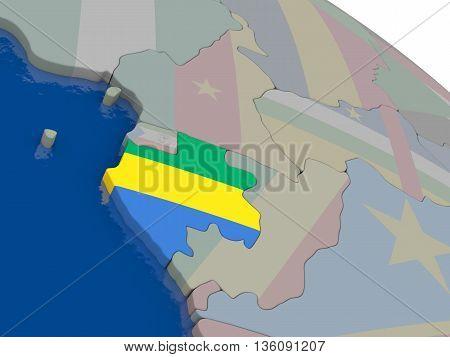 Gabon With Flag