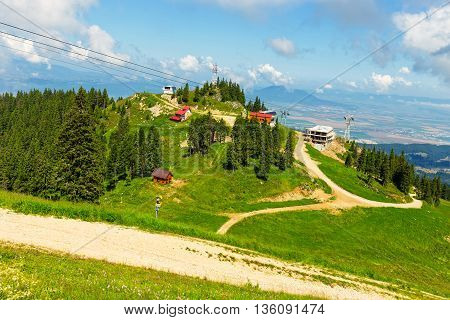 View From Postavarul Massif, Poiana Brasov, Romania