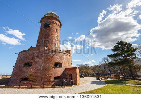 Harbor And The Lighthouse In Kolobrzeg, Poland