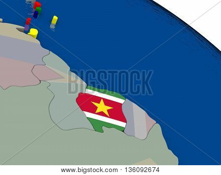 Suriname  With Flag