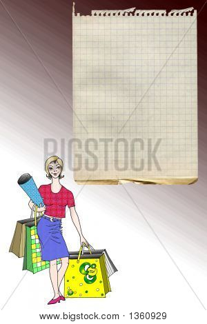 Stock Illustration Of Shopping List