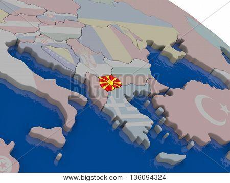 Macedonia With Flag