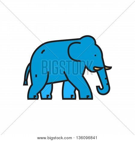 Elephant. Animal, zoo, mammal. Animal concept. Can be used for topics like animal, zoo, zoology