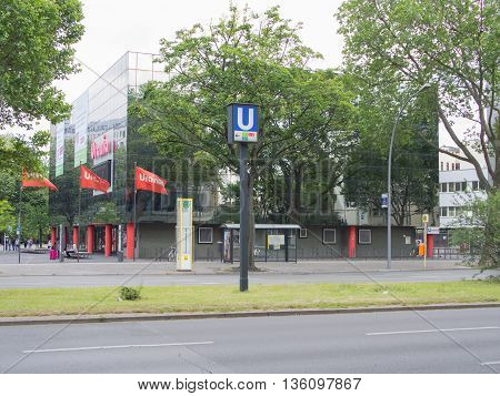 BERLIN GERMANY - JUNE 19 2016: Urania scientific society in Berlin