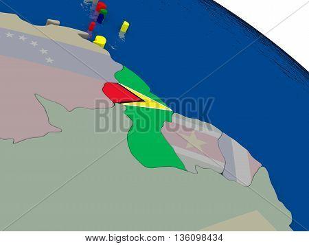Guyana With Flag