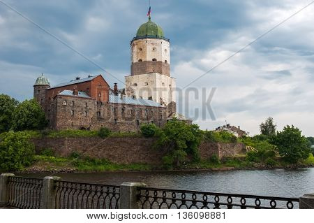 Ancient white castle of Vyborg was founded by Swedes in 1293, during the Third crusade to the Karelian land, an ally of Novgorod the Great. Old historical building under UNESCO protection.