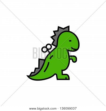 Windup dinosaur toy. Childrens toy, dinosaur toy, windup toy. Toy concept. Can be used for topics like toy, animal, childhood