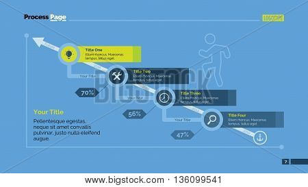Growth diagram. Presentation slide, arrow diagram, step chart. Concept for infographics, business templates, marketing reports. Can be used for topics like finance, marketing analysis, statistics