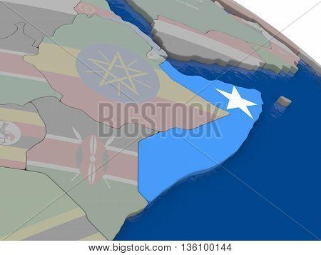 Somalia With Flag