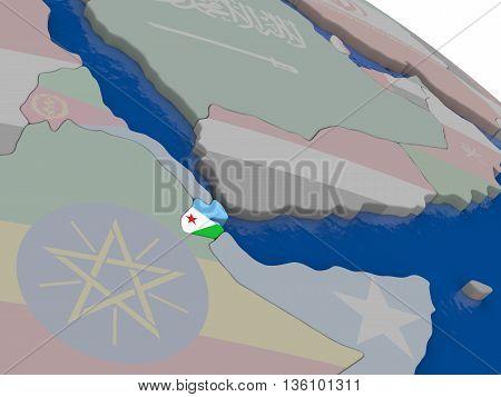 Djibouti With Flag