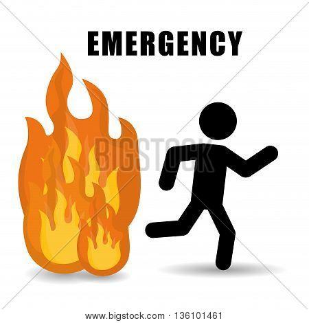 Emergency digital design, vector illustration eps 10.