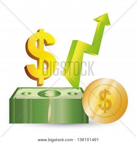 Business, money profits and global economy, vector illustration
