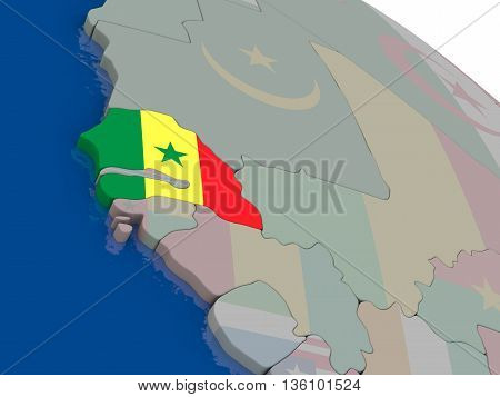 Senegal With Flag