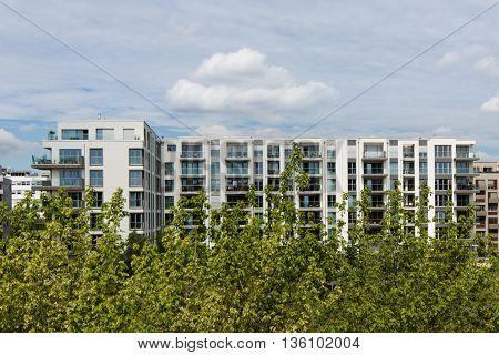 Modern Apartment Building , Real Estate Exterior