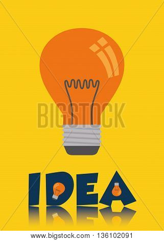 Big ideas graphic design, vector illustration. lightbulb icon