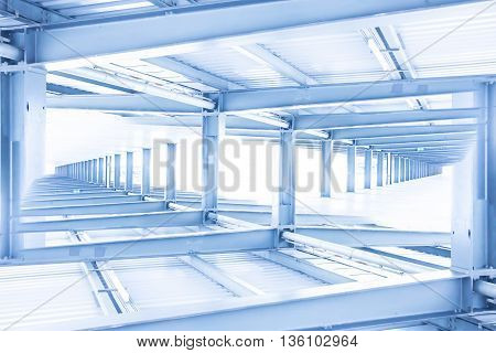 Abstract Steel Beam Construction, Construction Concept