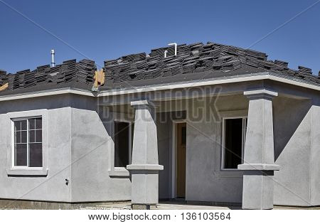 New Home Construction Stucco And Roofing For Sale Jobsite