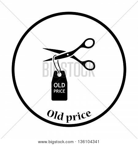 Scissors Cut Old Price Tag Icon