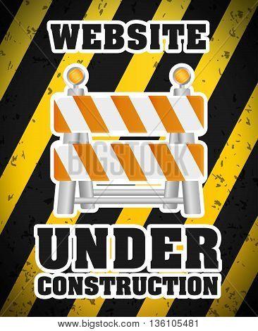 Under construction barrier design, vector illustration eps10 graphic