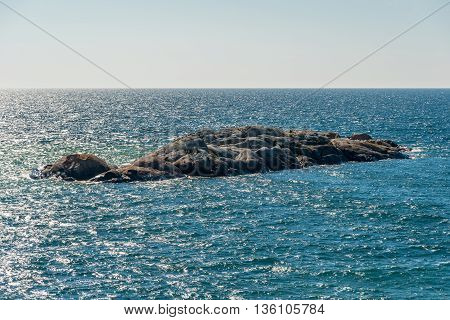 Picture of Rocky shore of Superior Lake Canada